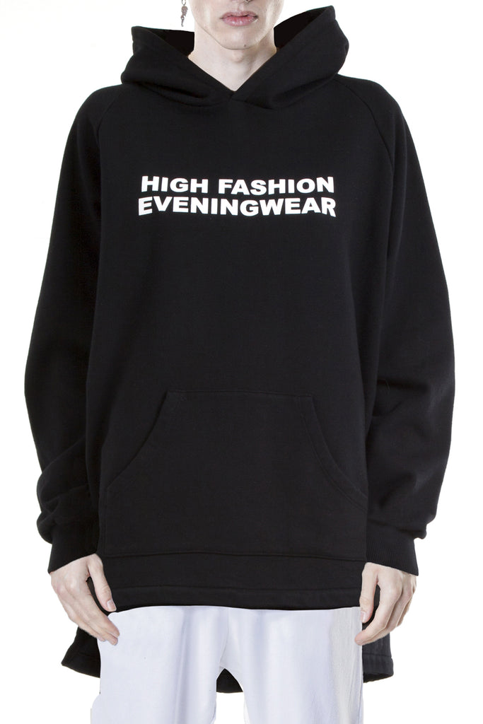 High Fashion Eveningwear Bi-Level Hoodie