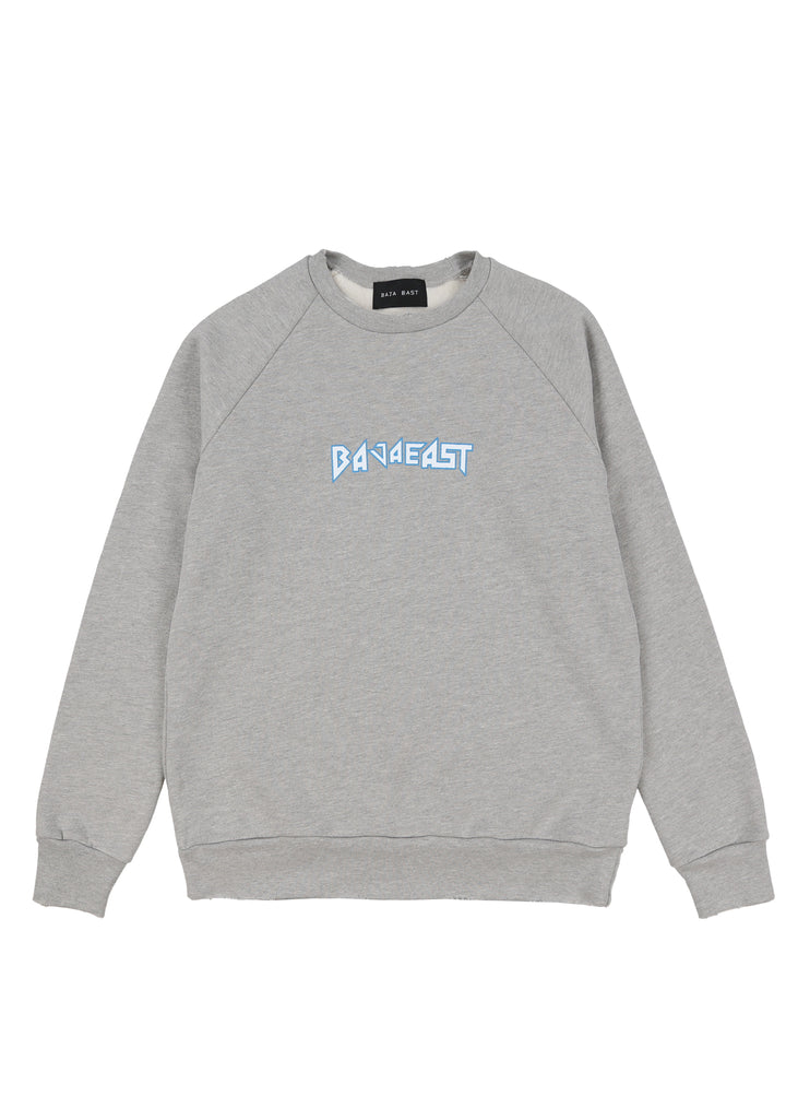 Grey Baja Metal Fleece Raglan Crew