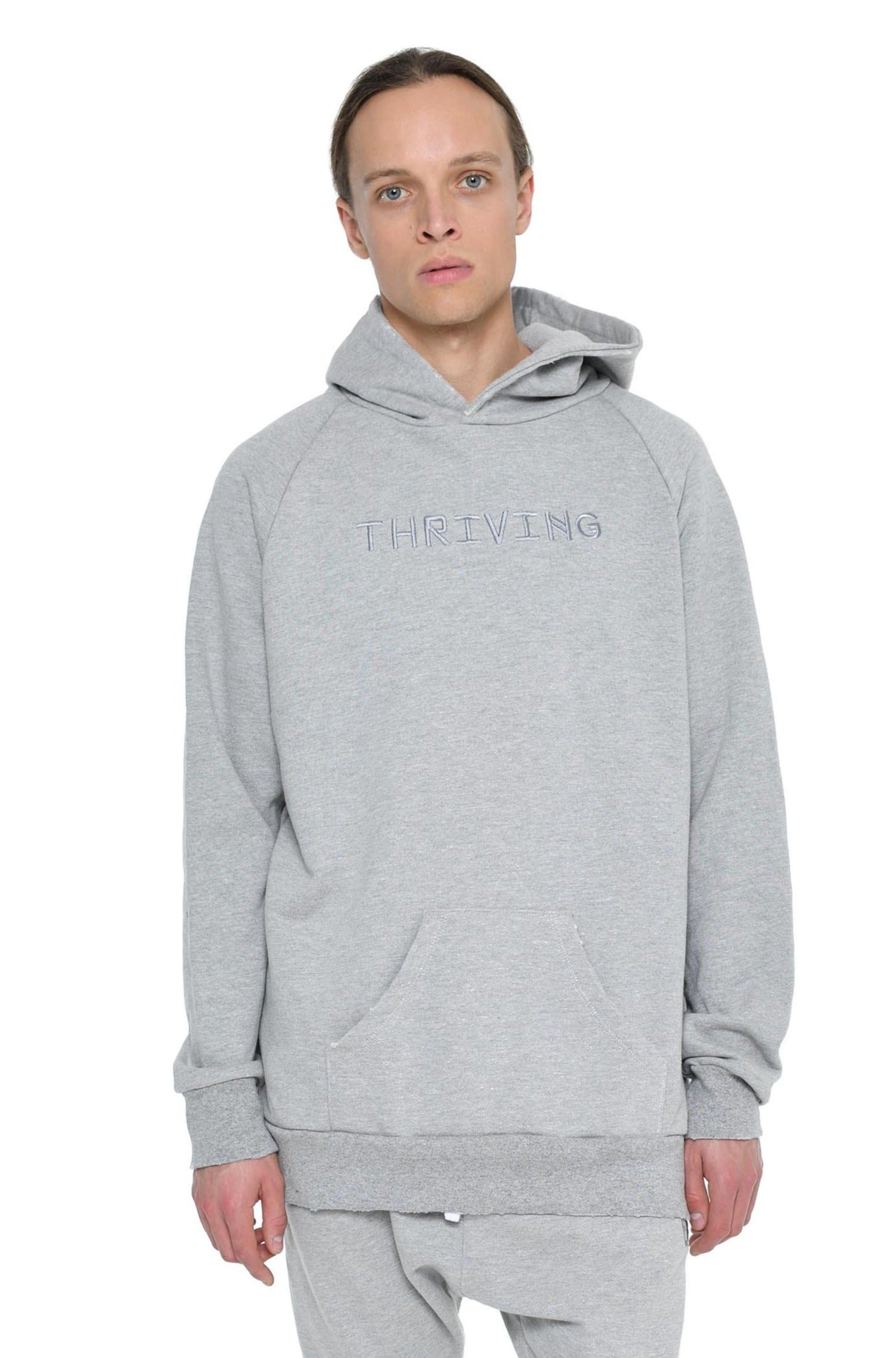 """Thriving"" Embroidered Hoodie"