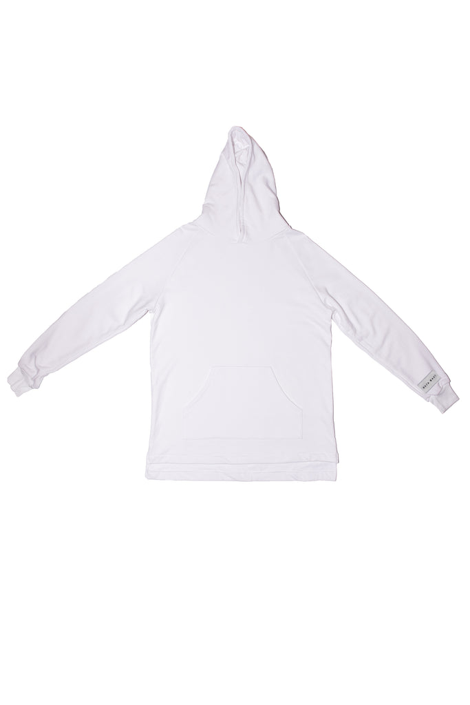 """LABELED""BI-LEVELHOODIEINWHITE"