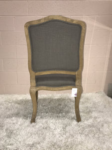 Gray Linen Dining Chair-Captain
