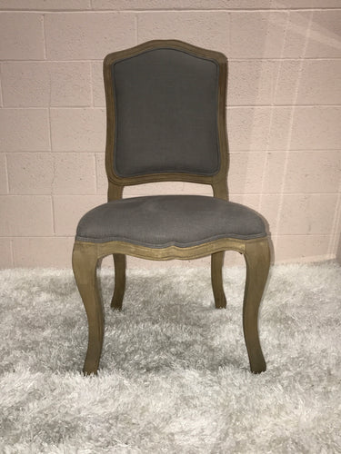 Gray Linen Dining Chair