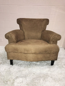 Brown Microfiber Accent Chair