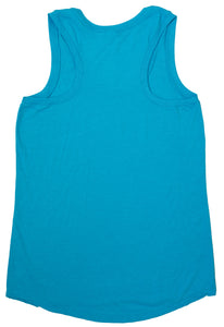 Ladie's Tri Racerback Tank (Turquoise Frost)