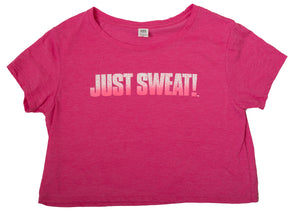 Junior's Relaxed Crop Tee (Fuchsia Frost)