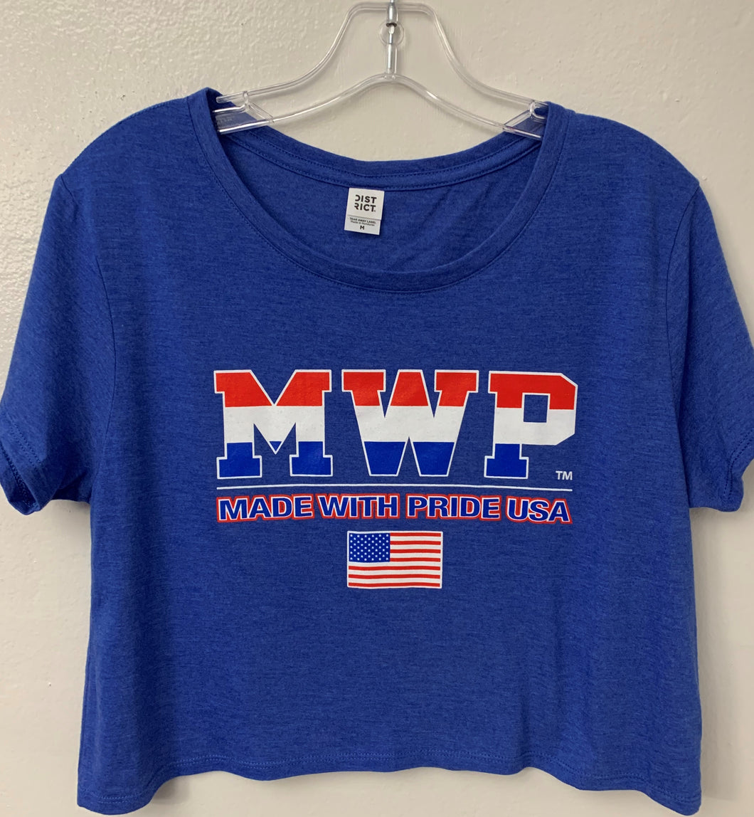 Juniors & Ladies MWP (MADE WITH PRIDE USA)TRI-BLEND Crop Top