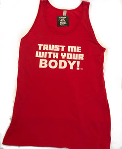 Ladies Jersey Tank Top (Red)
