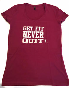 Ladies Get Fit Never Quit (plum)