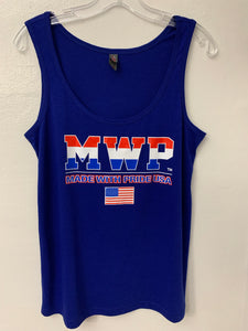 Ladies MWP(Made With Pride USA) Blue Tank Top