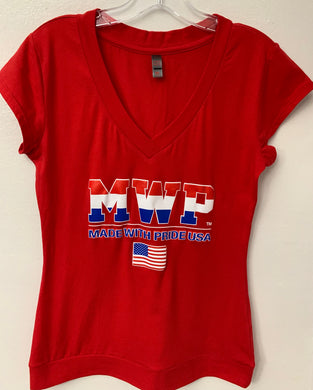 Juniors & Ladies MWP (MADE WITH PRIDE USA)  V-Neck