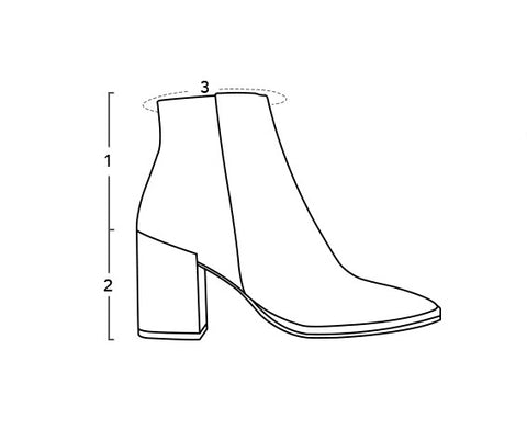 Shoe Diagram Tony Bianco Size Guide