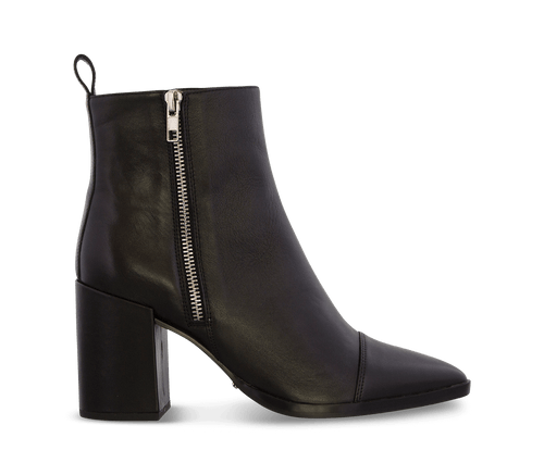 Belle Black Luxe Ankle Boots