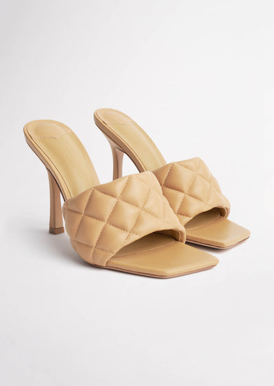 Betty Honey Sheep Nappa Heels