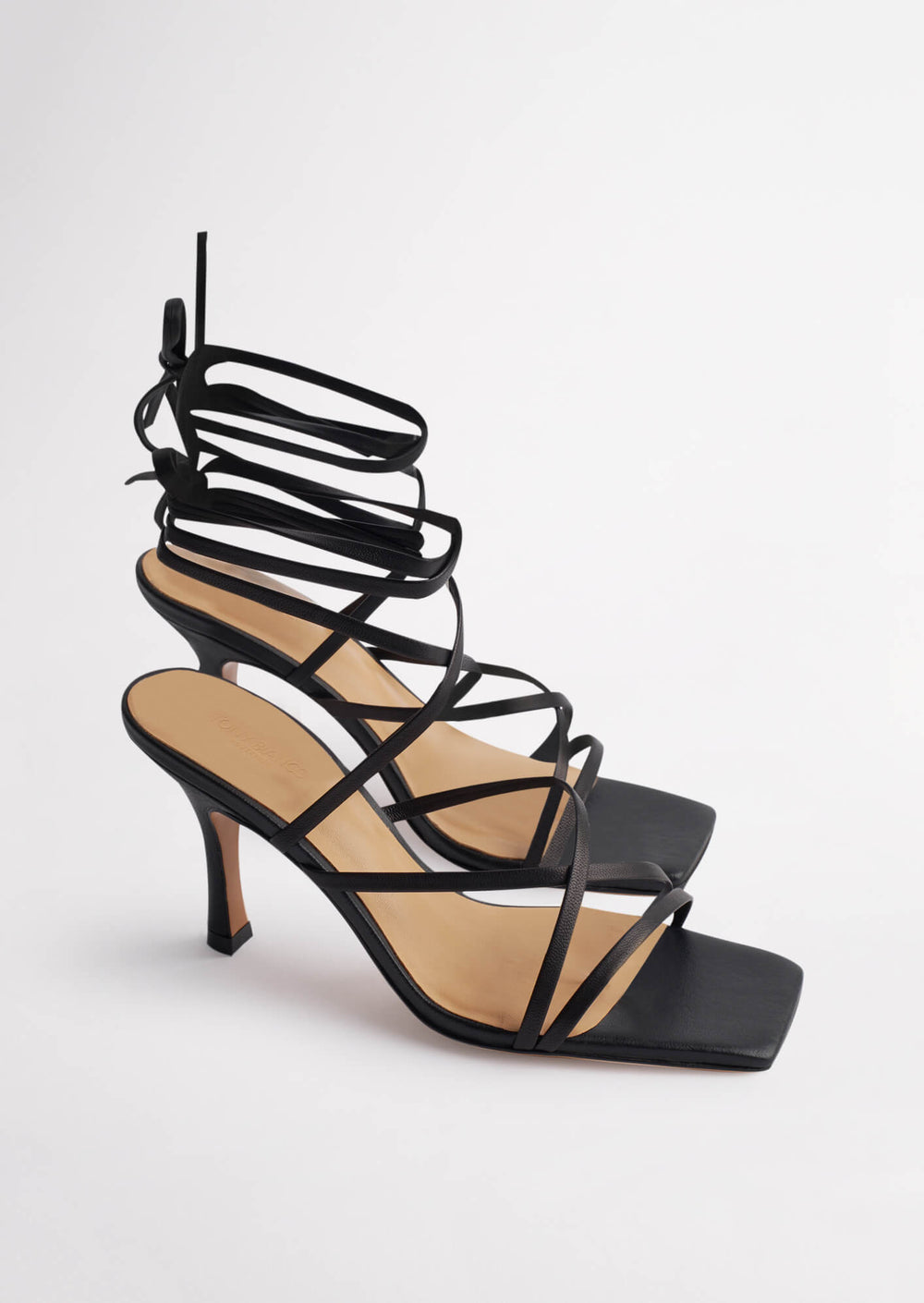 Caden Black Sheep Nappa Heels