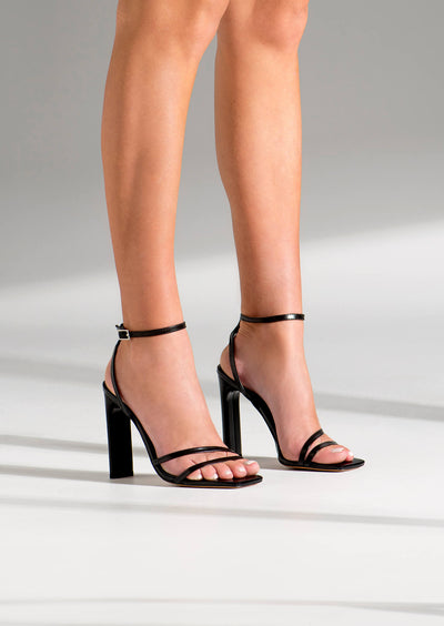 Fiance Black Kid Heels