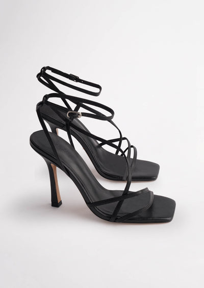 Franci Black Kid Heels