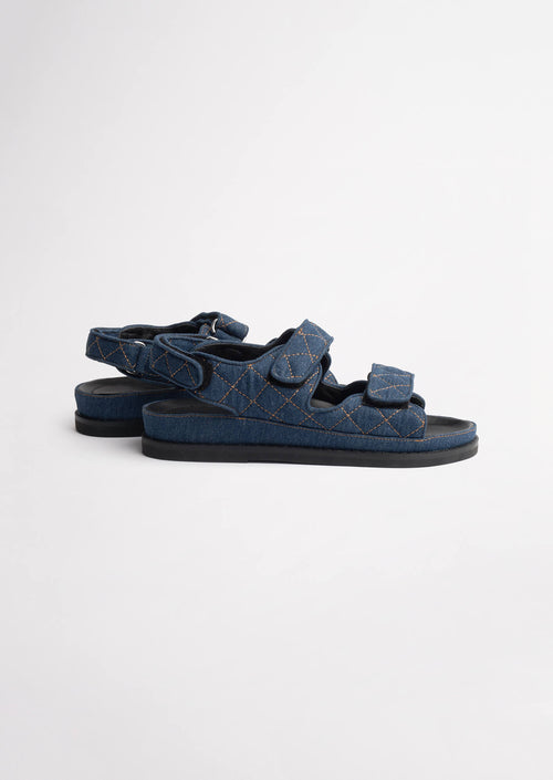 Hiranni Indigo Denim Sandals