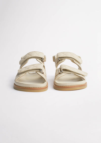 Hiranni Vanilla Sheep Nappa Sandals