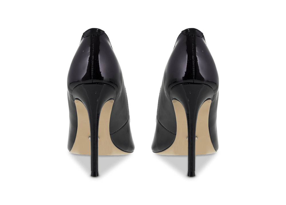 Lotus Black Patent Heels