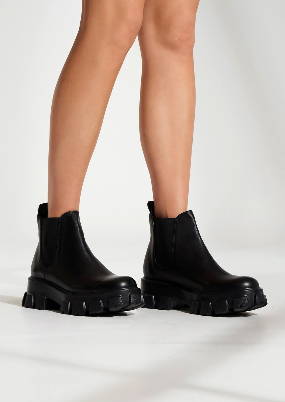 Stomp Black Como Ankle Boots
