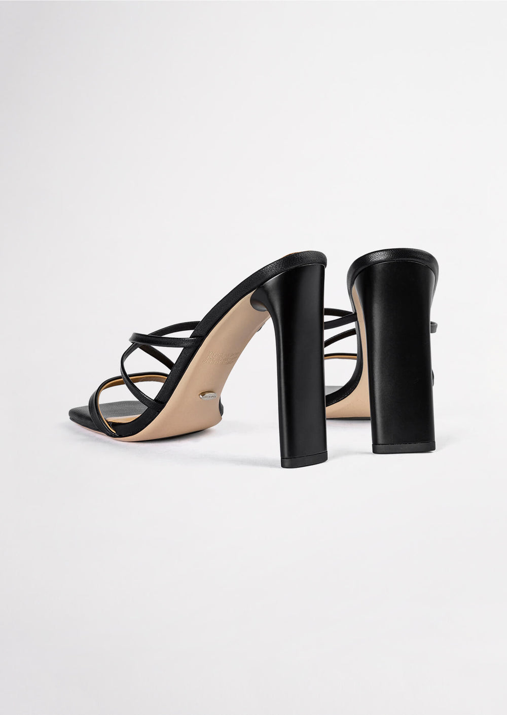 Fior Black Kid Heels