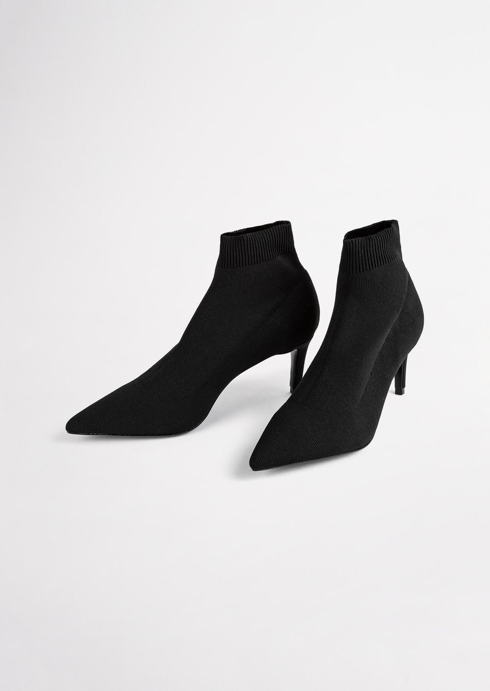 Gwen Black Sock Knit Ankle Boots