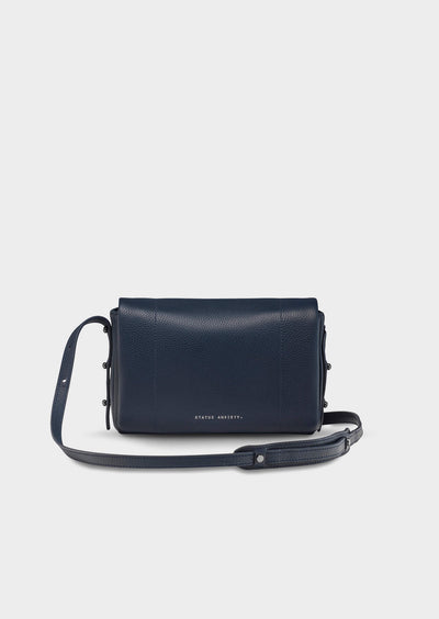 Succumb Navy Cross Body Bag