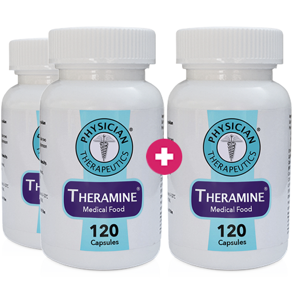 Theramine® 3 Month Supply - (Buy 2 Get 1 FREE + FREE GIFT)