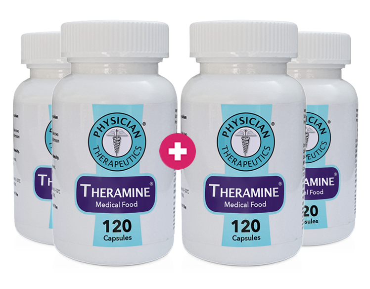 Theramine® 4 Month Supply - (Buy 2 Get 2 FREE + FREE SHIPPING ref:impact)