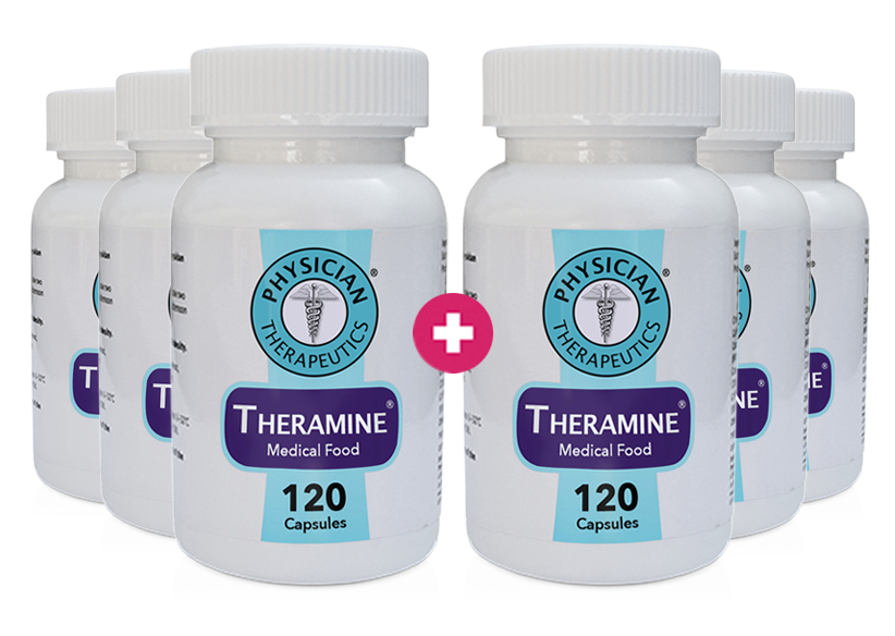 Theramine® 6 Month Supply - (Buy 3 Get 3 FREE + FREE SHIPPING ref: impact)