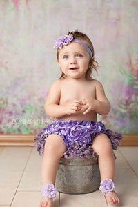 Lavender Foot Sandals and Headband