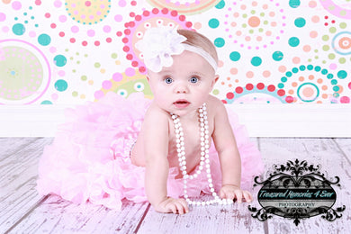 White Darling Headband for Infants, Toddlers and Young Girls