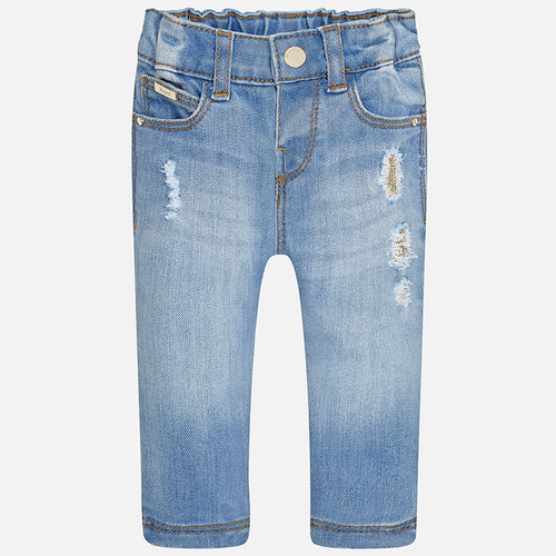 Mayoral Baby Girl Long Denim Trousers