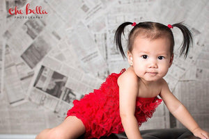 Lady Bug Red Lace Romper for Newborns, Babies, Toddlers and Young Girls