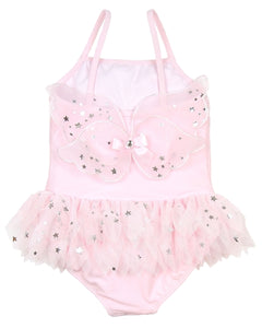 Kate Mack Girls' Skirted Swim Tank Set in Fairy Dance Pink