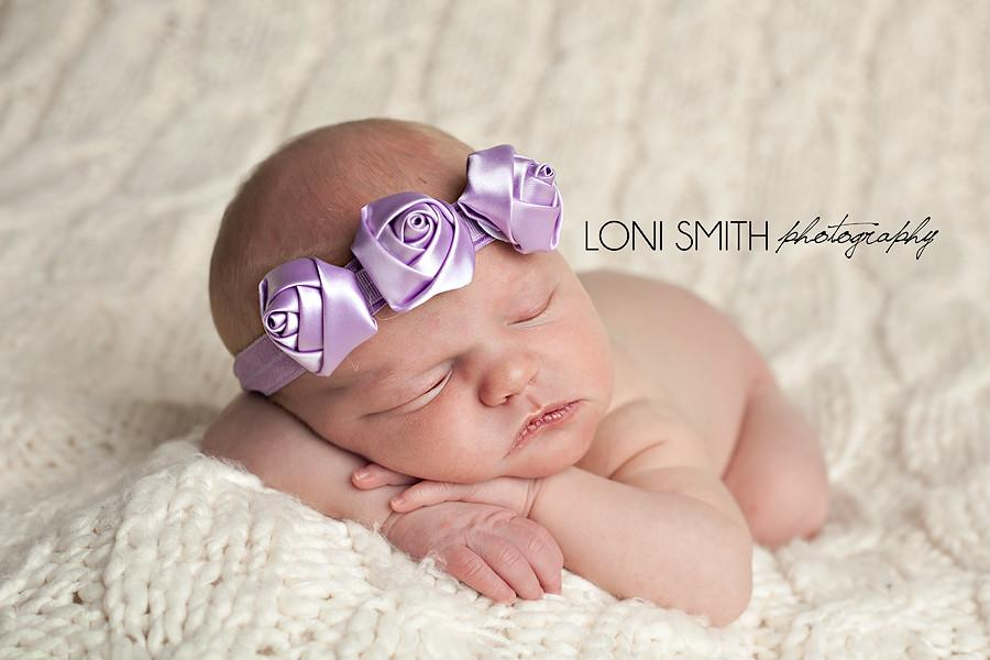 Emma Headband for Newborn, Infants and Young Children, Lavender