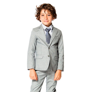 Deux Par Deux Grey Suit Set