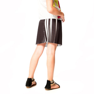 Deux Par Deux SO SAFARI! PLEATED SKIRT