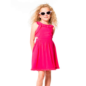 Deux Par Deux Fuchsia Viscose Dress
