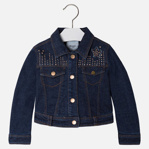 Mayoral Girl denim jacket with strass