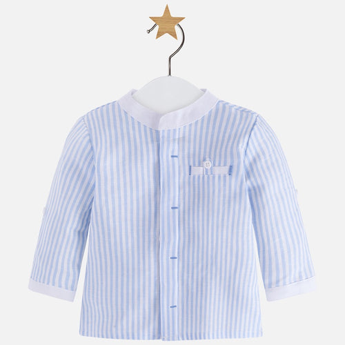 Mayoral Long sleeve linen shirt