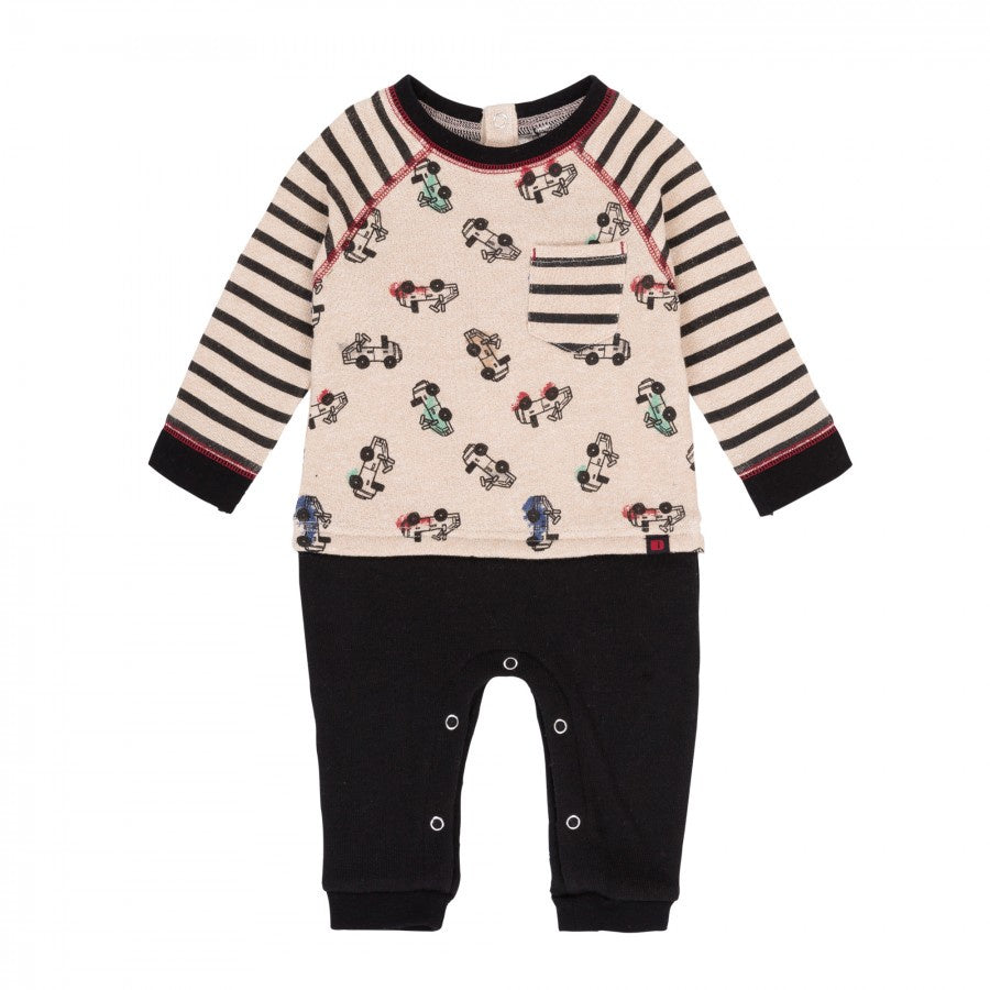 Deux Par Deux French Terry Romper