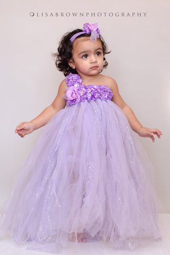 Lavender in Bloom Tutu Dress for Infants, Babies, Toddlers and Young Girls