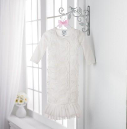 White Chiffon Sleep Gown by Mud Pie