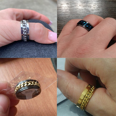 Rotatable Bottle Opener Ring