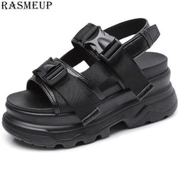 Women's Leather Platform Sandals