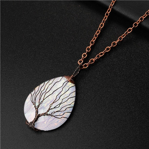 Tree of Life Copper Wire Wrapped Necklace