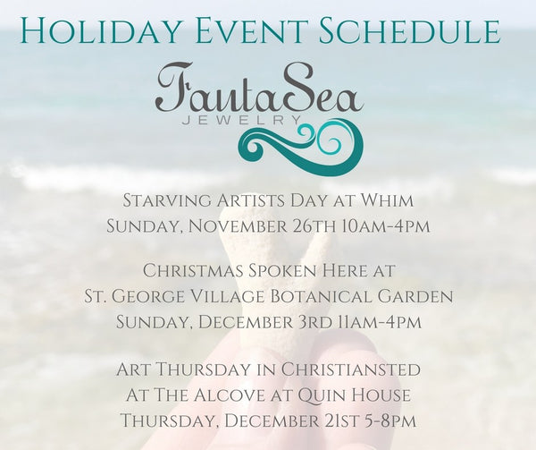 FantaSea Jewelry Holiday Event Schedule