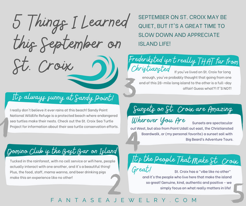 Five Things I Learned This September on St. Croix
