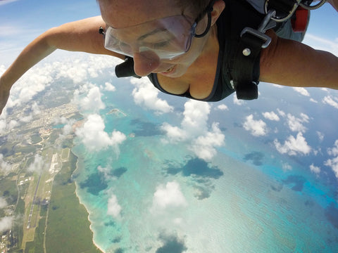 Skydiving over West End, St. Croix